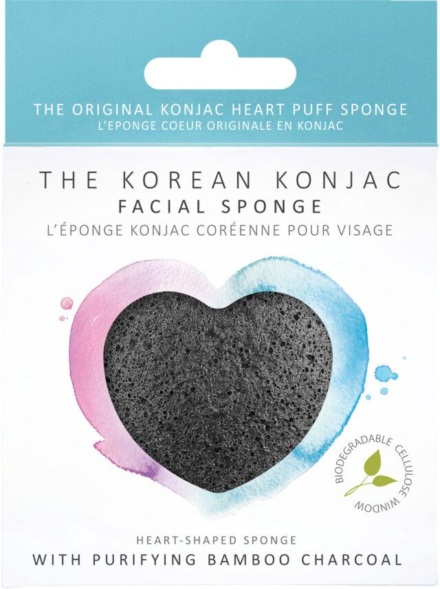 Premium Bamboo Charcoal Konjac Heart Sponge