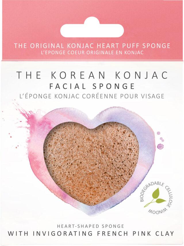 8525P Premium Pink Konjac Heart-Sponge